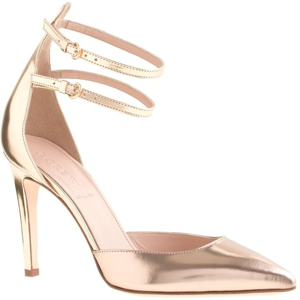 J.Crew Strappy mirror metallic pumps - Polyvore