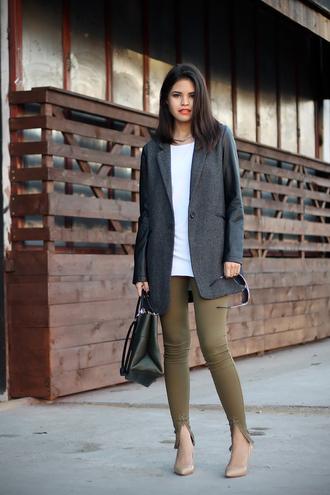 fake leather jacket t-shirt pants shoes bag sunglasses