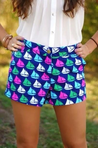 shorts sail boat