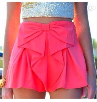 shorts pink shorts high waisted shorts sequin crop top