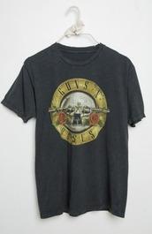 t-shirt,guns and roses,gun,roses,cute,shirt