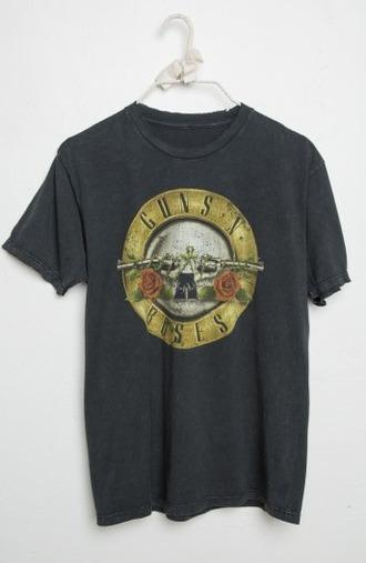 t-shirt guns and roses gun roses cute shirt