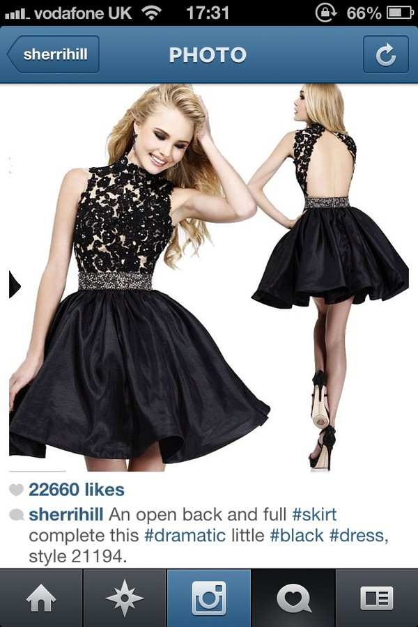 dress black prom dress sherri hill
