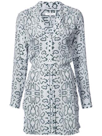 dress shirt dress women white silk