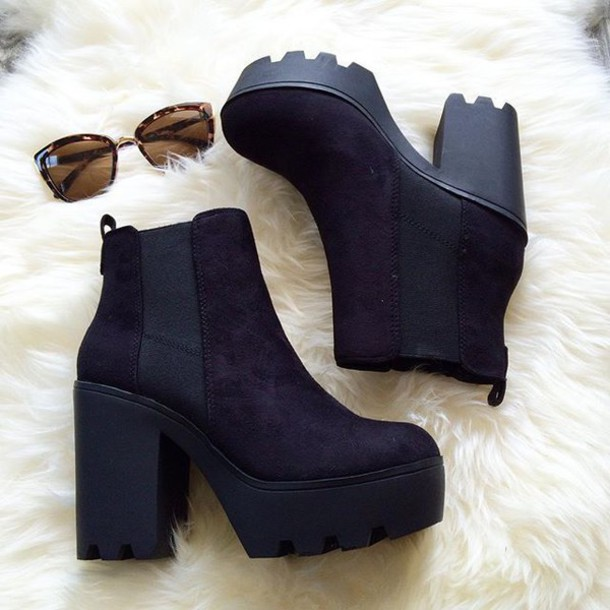 shoes belle xo boots booties heel wedges black thick heel straps suede  velvet fall outfits winter 7b40208b75dd