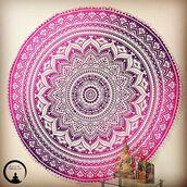 home accessory,tapestry,home decor,round mandala,bohemian,boho pink tapestry,beach mandala,loving,sivalya