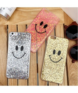 phone cover iphone cover glitter sparkle fashion smiley teenagers cool trendy cute gold silver red it girl shop