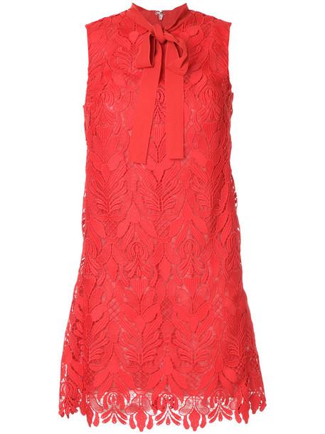Giamba dress lace dress women layered lace floral red