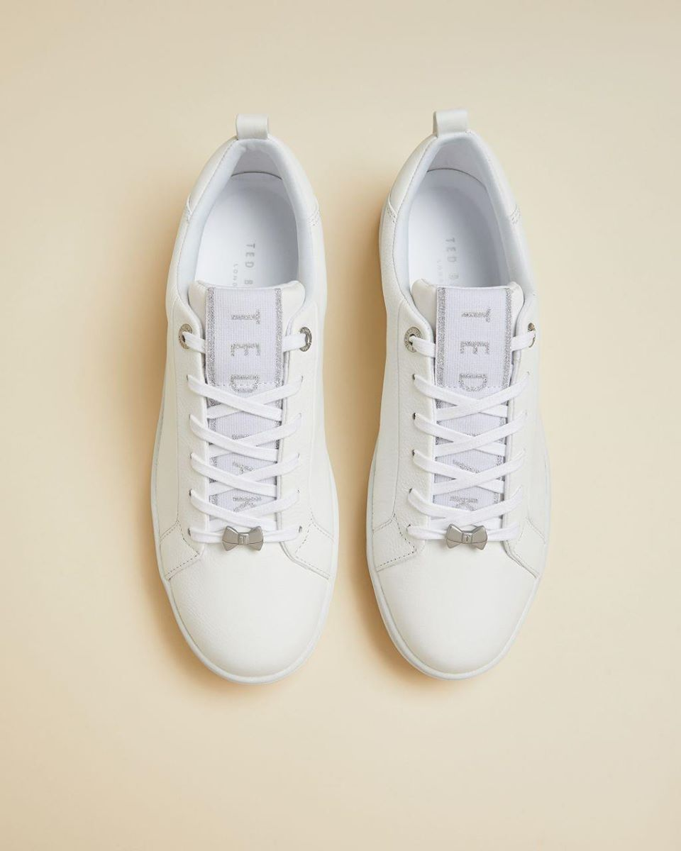 Branded Leather Trainers