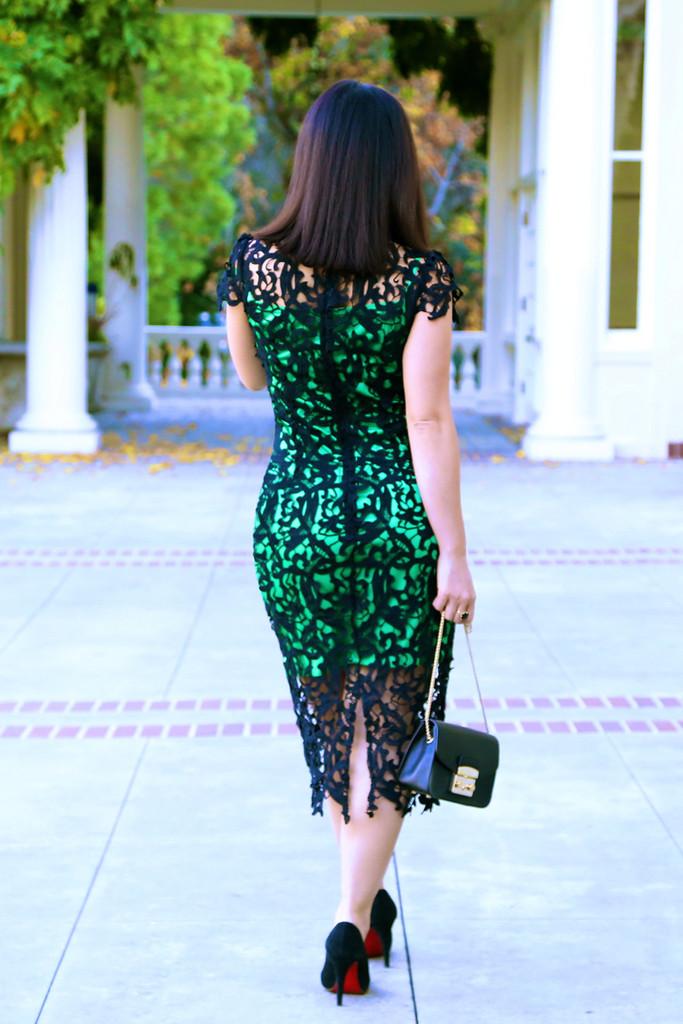 Pre order: the black crochet dress