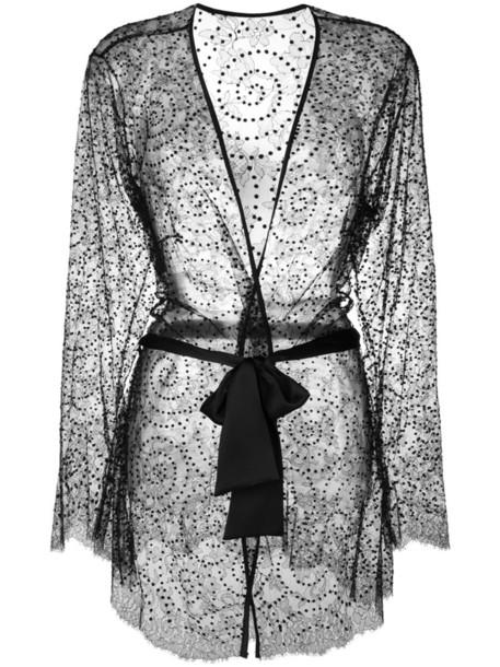 Gilda & Pearl kimono women black silk top