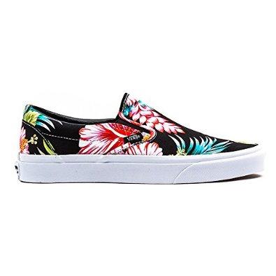 dd329e86ac Vans Classic Slip-On Hawaiian Floral Black  Amazon.fr  Chaussures ...