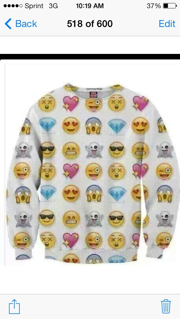 sweater emoji print emoji print 3d sweatshirts sweatshirt crewneck sweatshirt stickers smileys shirt