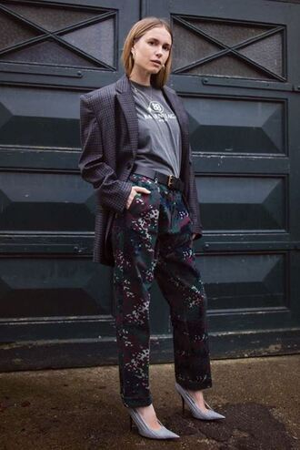 pants top balenciaga pumps blazer oversized pernille teisbaek instagram blogger