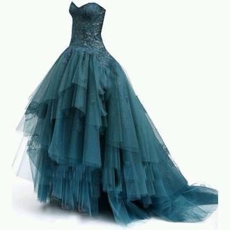 dress teal dress prom dress gown