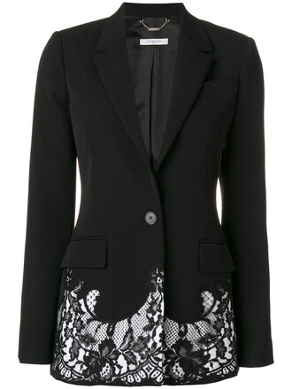 blazer embroidered women spandex lace cotton black wool jacket
