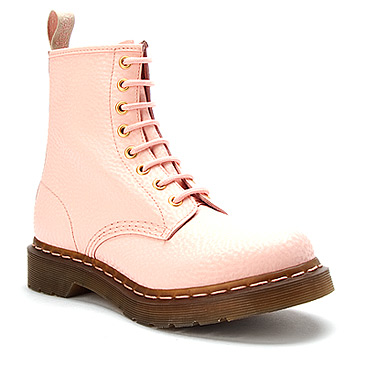 Dr Martens 1460 W 8 Eye Pastel Boot | Women's - Lt Pastel Pink QQ Pearl - FREE SHIPPING at OnlineShoes.com