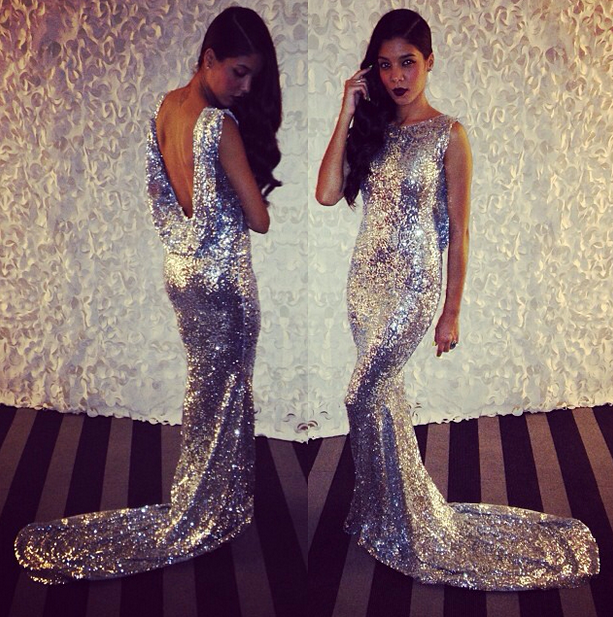Sequine long dress