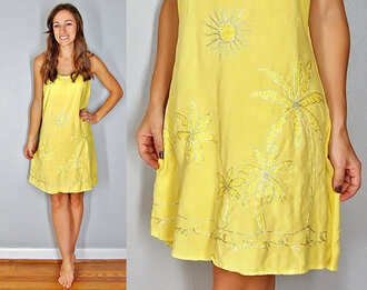 dress sunshine daydreams sunny summer summer dress beach dress hippie rasta island style surf style surf gypsy boho yellow sun dress