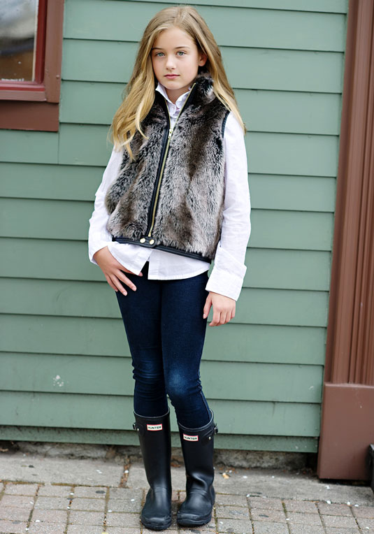 For this vest I used a faux fur throw blanket from target. It was the size of more than 1 yard and it includes backing fabric that I use for vest lining. 1 blanket is enough to make a vest for Abbey, Penny, and myself if I wanted to, including the lining and it was only 30 bucks.