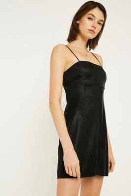 Pins & Needles Moonbeam Metallic Slip Dress