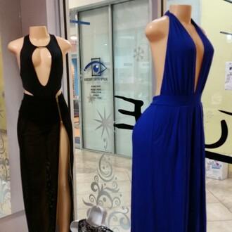 dress slit dress black maxi dress maxi dress deep v neck dress