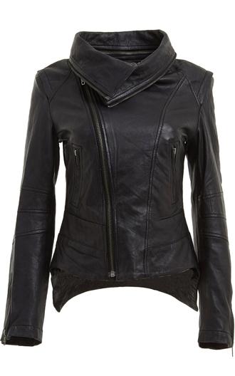 jacket black leather jacket american moto jacket