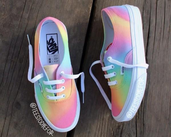 shoes vans pastel color pattern wheretoget