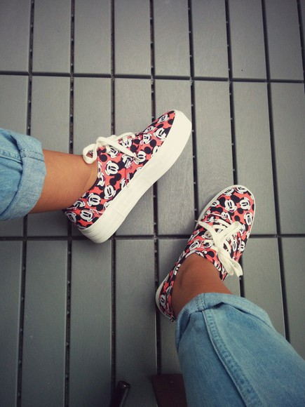 mickey mouse platform sneakers platform shoes