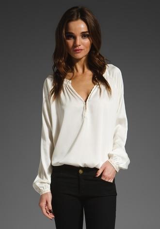 blouse white white blouse women fashion new style nice style
