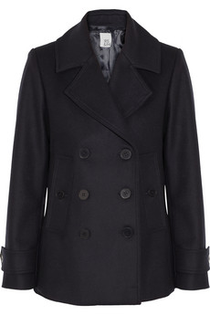 Wool-felt peacoat  | Iris & Ink | THE OUTNET