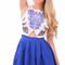 "Chic ""grecian goddess"" embroided cutout babydoll skater dress – glamzelle"