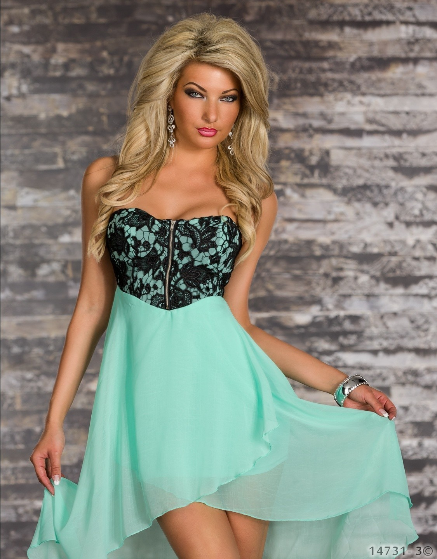 Modern With Zipper Front High Low Dress