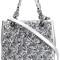 Michael michael kors small 'flora burst' crossbody bag, women's, grey