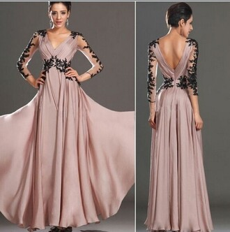 dress prom dress ball gown dress lace dress formal dress floral v neck dress
