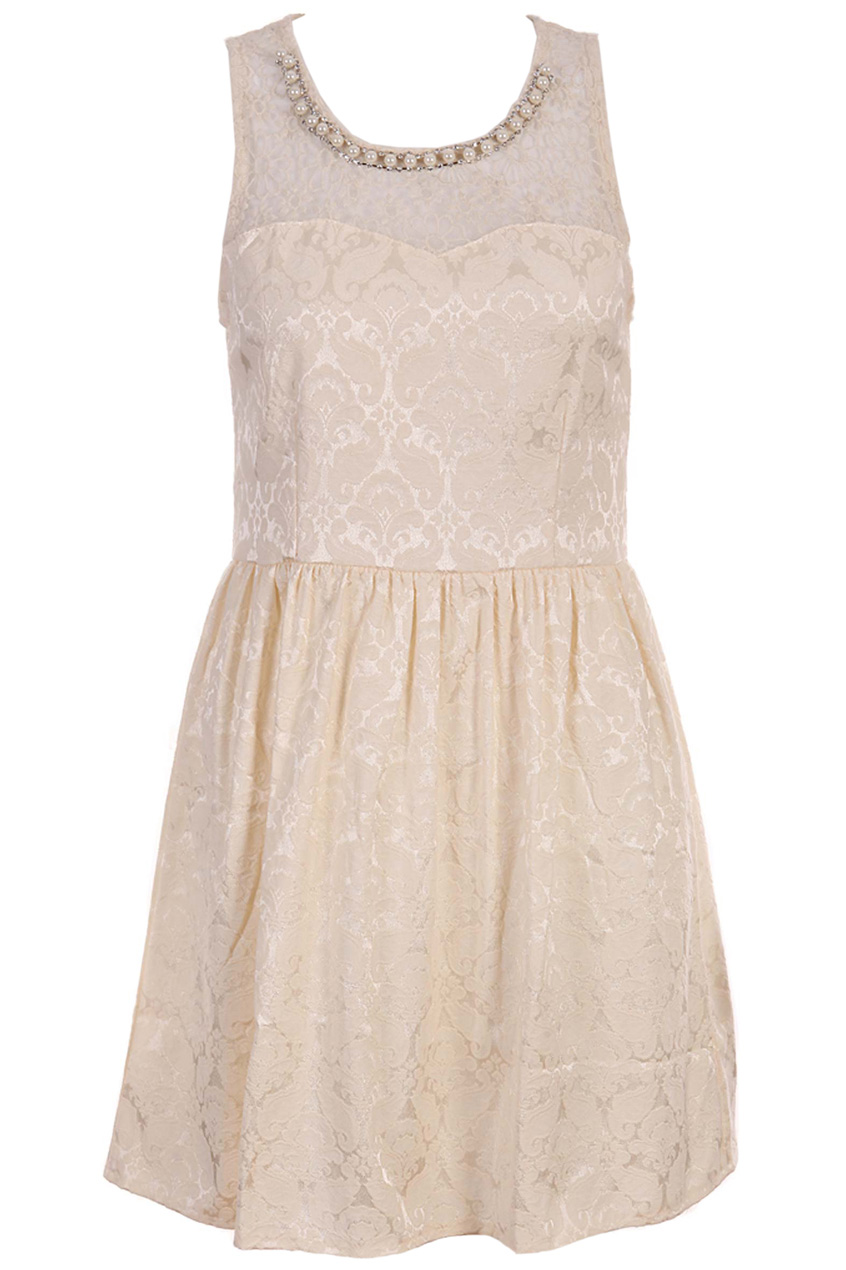 ROMWE   Constrasting Sleeveless White Dress, The Latest Street Fashion