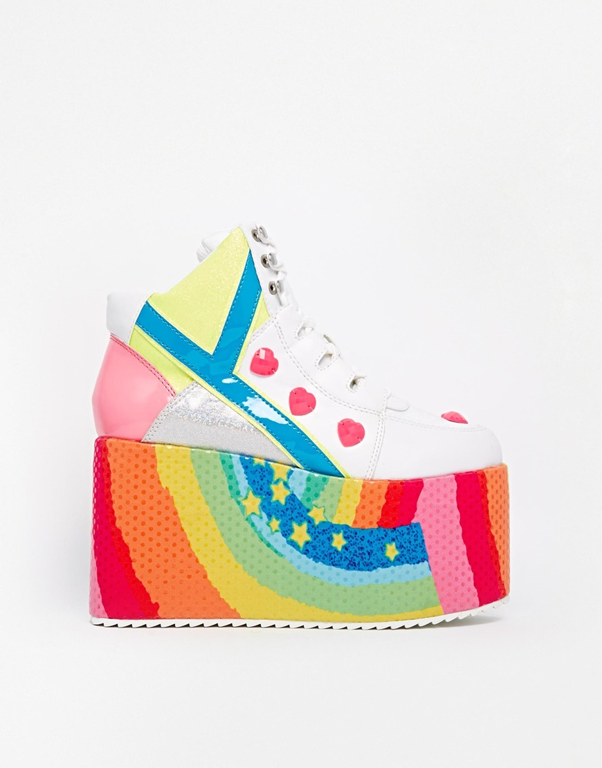YRU Qozmo Hi Feature Flatform Shoes at asos.com