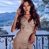 dress,holt miami,holt dress,sexy dress,nude dress,gold dress,lace dress,crystal dress,bachelorette dress,birthday dress,holt