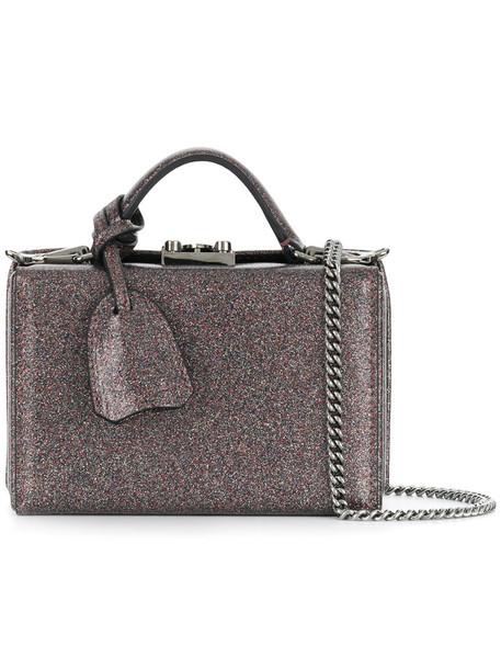 Mark Cross mini women bag leather grey metallic