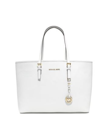 Jet Set Travel Medium Saffiano Leather Tote