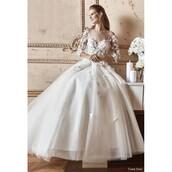 dress,flowers,wedding dress,black dress,tarik ediz 92800,unique shoes