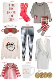 hello fashion,blogger,socks,pajamas,holiday gift,snowflake,sleep mask,nightwear,quote on it mug,robe,christmas sweater,christmas,holiday season,book