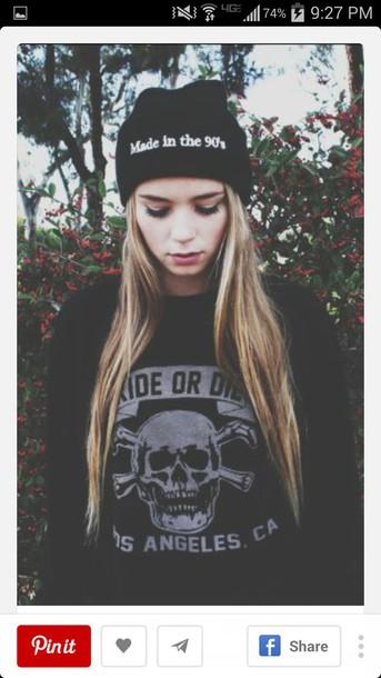 shirt sweater hat