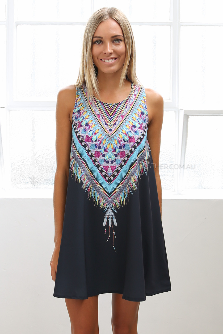 feather dress - black | Esther clothing Australia and America USA ...