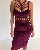 dress,velvet,purple,cute dress,burgundy,sexy