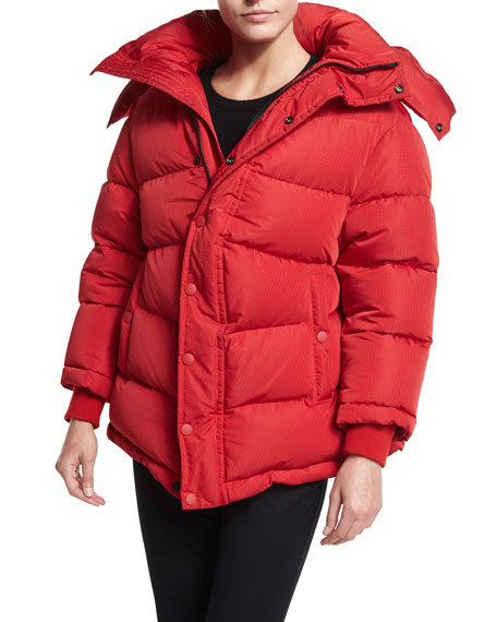 Balenciaga Quilted Puffer Coat, Red