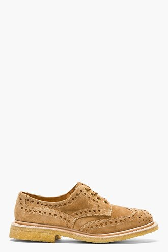 brogues shoes tan suede menswear casual shoes softy bourton