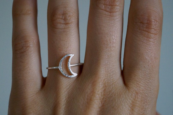 hair accessory ring jewelry moon jewels