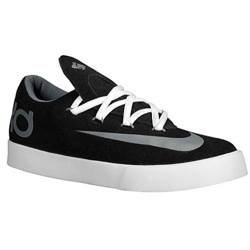 Nike KD Vulc - Boys' Grade School - Basketball - Shoes - Black/Cool Grey/White