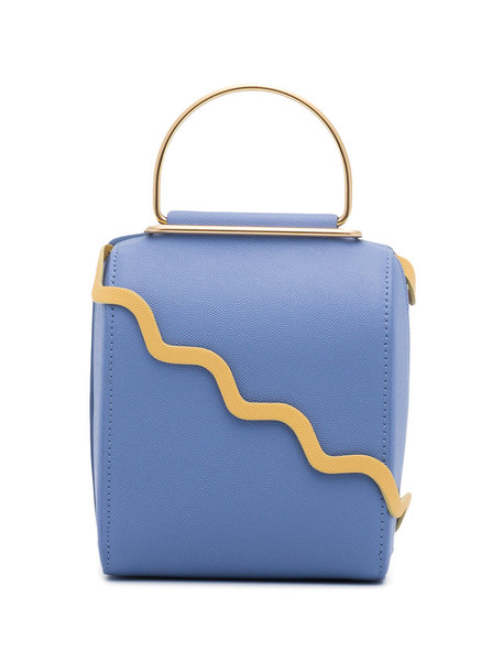 Roksanda metallic women bag shoulder bag leather blue